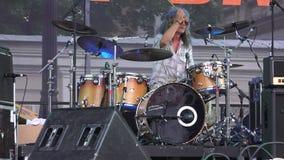 O baterista na faixa 4K filme