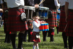 O baterista o mais pequeno Foto de Stock