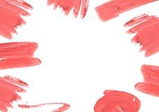 O batom da cor vermelha cortou em torno da beira com espaço vazio Foto de Stock