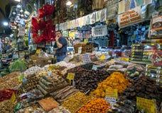 O bazar da especiaria em Istambul, Turquia Foto de Stock