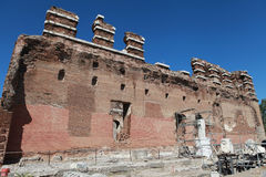 O Bazilika, Redhall, em Pergamon, Smyrna. fotografia de stock royalty free