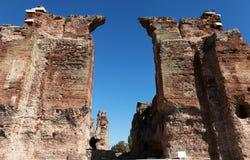 O Bazilika, Redhall, em Pergamon, Smyrna. fotos de stock