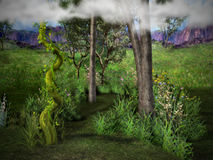 O Beanstalk enchanted Imagens de Stock