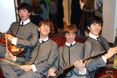 O Beatles na senhora Tussaud Fotografia de Stock
