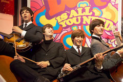 O Beatles na senhora Tussauds de Londres Foto de Stock