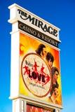 O Beatles no anúncio do hotel da miragem Foto de Stock