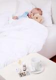 O bebê é doente Foto de Stock Royalty Free