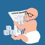 Homem de negócios do bebê Imagens de Stock Royalty Free