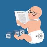Gênio do bebê Fotografia de Stock Royalty Free