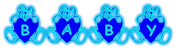 O bebê carrega o azul imagem de stock