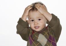 O bebê espantado Imagens de Stock Royalty Free