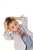 O bebê espantado Imagens de Stock