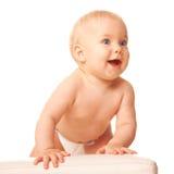 O bebê está pronto para saltar. foto de stock royalty free