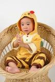 O bebê gosta da abelha Foto de Stock