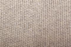 O bege fez malha a tela textured Foto de Stock