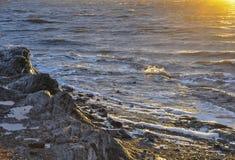 O beira-mar no final do dia imagem de stock royalty free