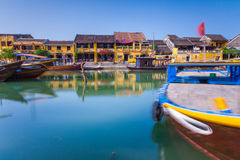 O beira-rio da cidade antiga de Hoi An, Vietname Imagem de Stock