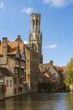 O Belfort em Bruges Foto de Stock