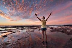 O bem estar do bem-estar comemora a vida fotografia de stock