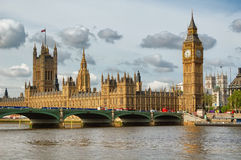 O Ben grande, um símbolo de Londres Imagens de Stock Royalty Free