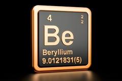 O berílio seja elemento químico rendição 3d Ilustração Stock
