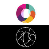 O beschriften Logo, Ikone, Vektordesignschablone stockfotografie