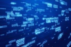 O binário afaga o fundo azul. Imagem de Stock