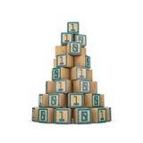 O binário obstrui a pirâmide Fotos de Stock