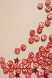 O bingo do Natal numera o estilo liso Imagens de Stock Royalty Free