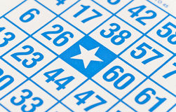 O Bingo livra o ponto Imagem de Stock Royalty Free