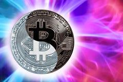 O bitcoin yin-Yang da moeda do conceito foto de stock royalty free