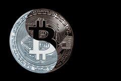 O bitcoin yin-Yang da moeda do conceito fotos de stock