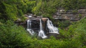 O Blackwater cai panorama do parque estadual em West Virginia foto de stock