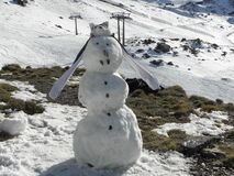 o boże narodzenie więcej człowiek śniegu jest nowy rok Obraz Royalty Free