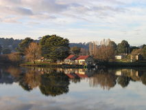O Boathouse, Daylesford, Victoria, Austrália fotografia de stock