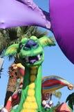 O bobo da corte e o dragão verde Foto de Stock