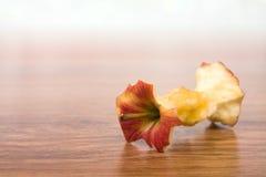Bocado vermelho da maçã Fotografia de Stock