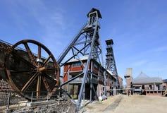 O Bois du Cazier, antiga mina de carvão, Marcinelle, Charleroi, Bélgica foto de stock