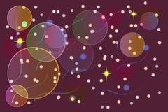 o bokeh festivo do sumário moderno colorido do borrão do inclinação ilumina-se para trás ilustração stock