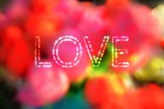 O bokeh romântico borrou o fundo do verde amarelo do rosa dos vermelhos e imagens de stock royalty free