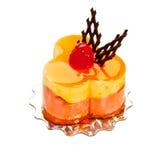 O bolo com framboesa Imagens de Stock