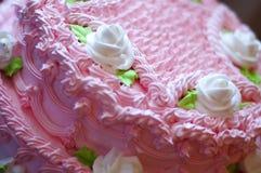 O bolo cor-de-rosa Imagem de Stock