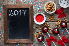 O bolo da rena estala o deleite do Natal para crianças Imagem de Stock Royalty Free
