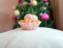 O bolo da rosa Fotos de Stock