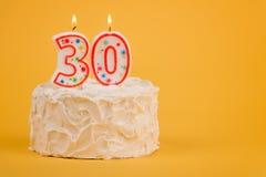 30o bolo de aniversário Fotografia de Stock Royalty Free
