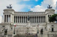 O bolo de casamento - monumento de Victor Emmanuel II em Roma, Itália Foto de Stock
