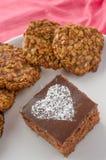 O bolo e a casa de chocolate fizeram cookies Imagem de Stock