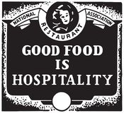 O bom alimento é hospitalidade ilustração royalty free