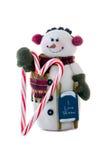 O boneco de neve ama o inverno Fotografia de Stock Royalty Free