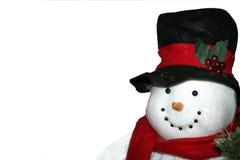 O boneco de neve isolou-se Fotos de Stock Royalty Free